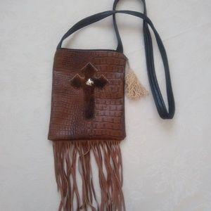 Handbags - Cowhide fringe boho crossbody bag